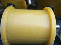 云南型号齐全矿用180×495聚氨酯地滚轮