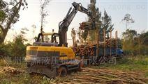 轮式抓木机除?#22235;?#26448;装卸车还能干别的吗?