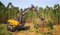 抓木机一机多用足以抵御木材市场低迷行情
