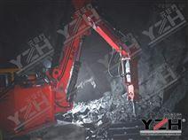 鐵礦山格篩大石塊固定式液壓破碎站