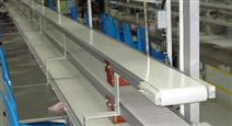 白色环保食品饮料输送带,流水线运输传动带