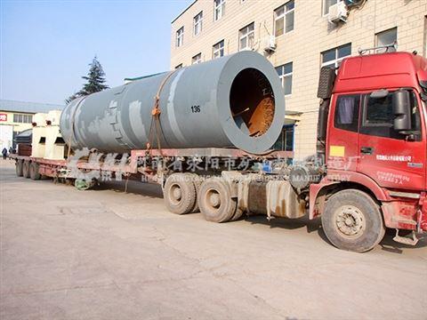 河南日产800吨石灰回转窑工艺流程