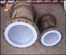 化工廠耐酸堿鋼襯塑管道